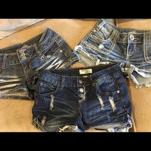 Size 1 Cute Denim Shorts from Wet Seal